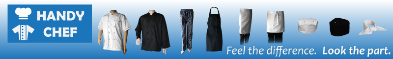 Traditional chef pants economy pack, waiting staff bottoms hospitality kit