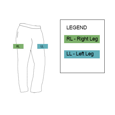 pant positions custom logo embroidery