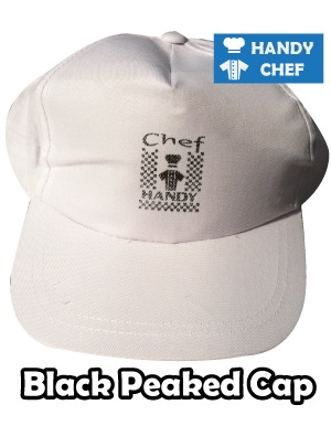 Kitchen Chef White Peaked Cap, Bakery White Peaked Cap Hat