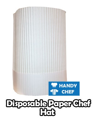 Professional disposable chef hat, kitchen white paper cooking top cap
