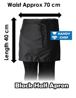 Chef half apron chart