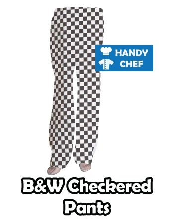 Black and White Chef Diamond Checkered Pants