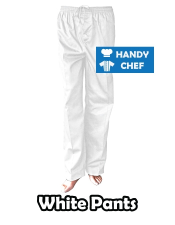Hospitality Industry Professional Kitchen White Chef Pants