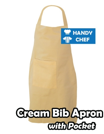 Cream Coloured Professional Chef Bib Apron, Kitchen Cream Chef Aprons
