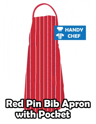 Red Coloured Professional Chef Bib Apron, Kitchen Red Chef Aprons