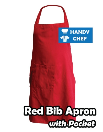 Plain Red Coloured Professional Chef Apron, Kitchen Red Chef Aprons