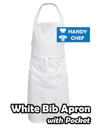 White Coloured Professional Chef Apron, Kitchen Plain White Chef Aprons