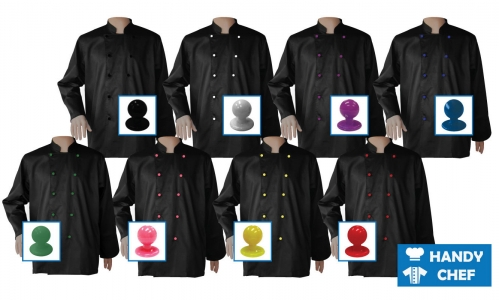 Executive Chef Long Sleeve Black Jacket, Kitchen Colour Buttoned Black Coat