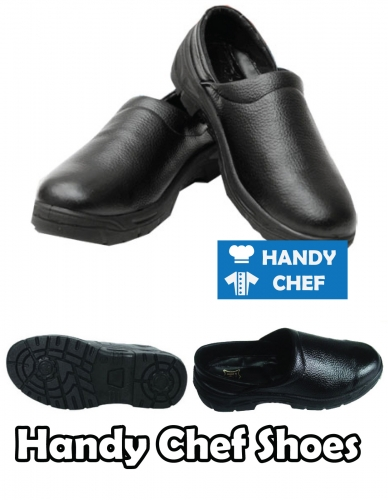 Chef leather professional shoes, non-slip commercial kitchen footwear