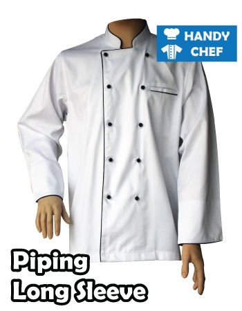 White Piping Chef Jackets