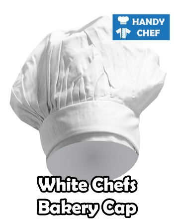 Kitchen Chef White Plain Cap, Bakery White Cap Hat