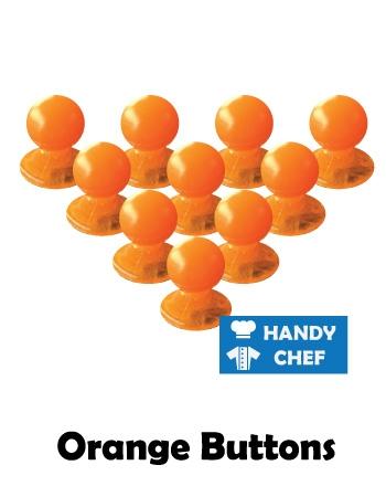 Chef orange jacket buttons, kitchen coat orange press studs