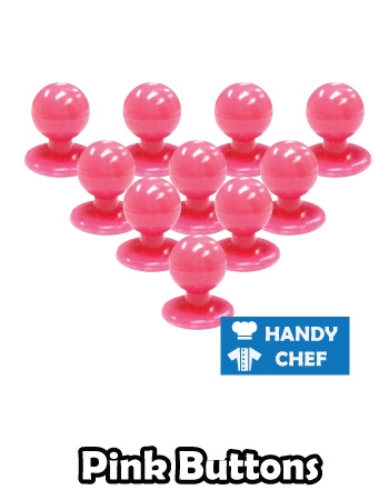 Chef pink jacket buttons, kitchen coat pink press studs