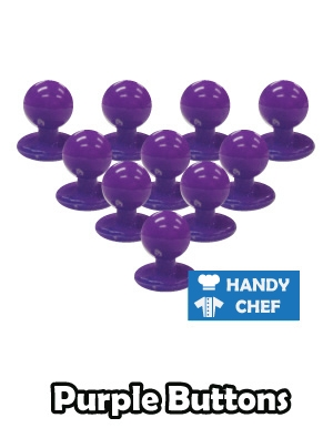 Chef purple jacket buttons, kitchen coat purple press studs