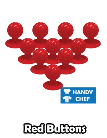 Chef red jacket buttons, kitchen coat red press studs