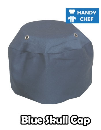 Chef Pale Blue Skull Cap, Kitchen Blue Coloured Cap Hat