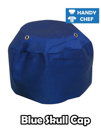 Chef Blue Skull Cap, Kitchen Blue Coloured Cap Hat