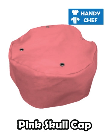 Chef Pink Skull Cap, Kitchen Pink Coloured Cap Hat