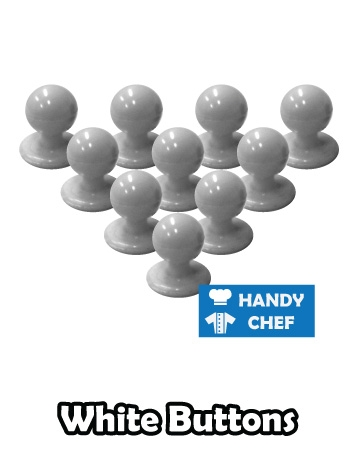 Chef white jacket buttons, kitchen coat white press studs