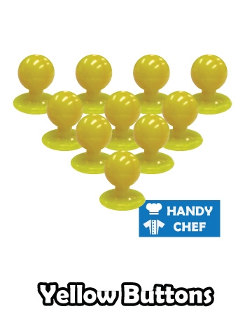 Chef yellow jacket buttons, kitchen coat yellow press studs