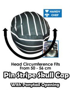Australian pin stripe skull chef cap chart