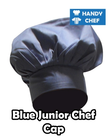 Junior Chef Blue Coloured Cap, Kids Blue Cooking Hat