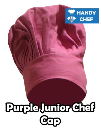 Junior Chef Purple Coloured Cap, Kids Purple Cooking Hat