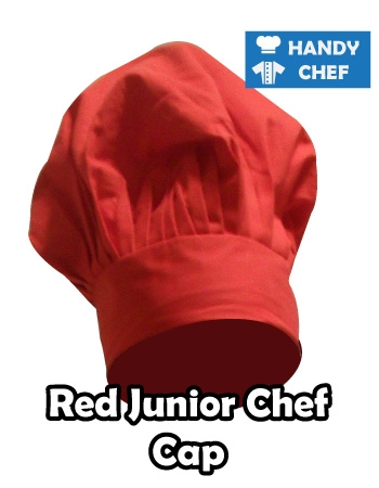 Junior Chef Red Coloured Cap, Kids Red Cooking Hat