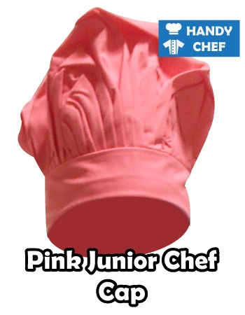 Junior Chef Pink Coloured Cap, Kids Pink Cooking Hat