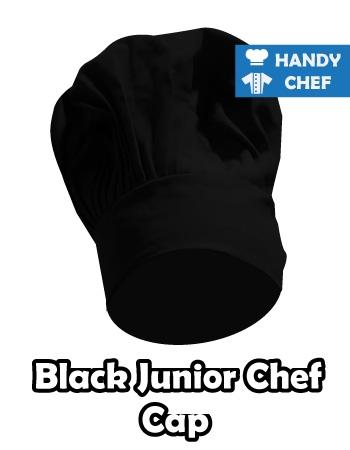 Junior Chef Black Coloured Cap, Kids Black Cooking Hat