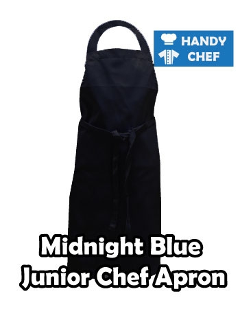 Junior Chef Midnight Blue Coloured Apron, Kids Midnight Blue Apron