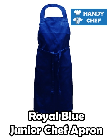 : Junior Chef Royal Blue Coloured Apron, Kids Royal Blue Apron
