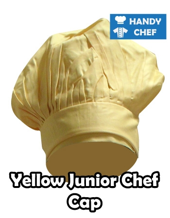 Junior Chef Yellow Coloured Cap, Kids Yellow Cooking Hat