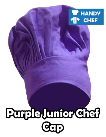 Junior Chef Dark Purple Coloured Cap, Kids Dark Purple Cooking Hat