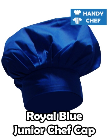 Junior Chef Royal Blue Coloured Cap, Kids Royal Blue Cooking Hat