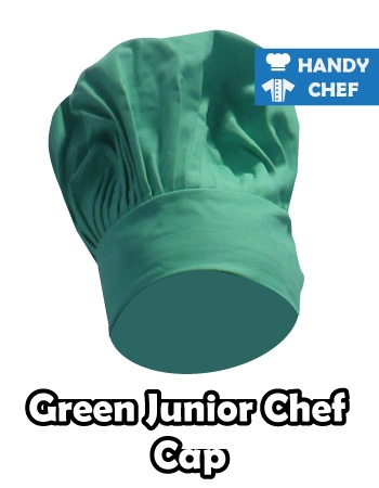 Junior Chef Dark Green Coloured Cap, Kids Dark Green Cooking Hat