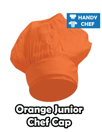 Junior Chef Orange Coloured Cap, Kids Orange Cooking Hat