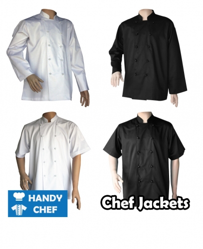 Traditional chef jackets economy pack 4 jackets uniforms