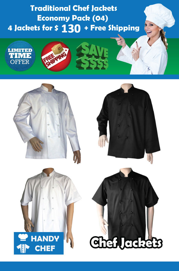 traditional chef jackets economy pack uniforms