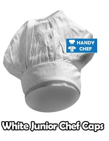 Junior Chef White Coloured Cap, Kids White Cooking Hat